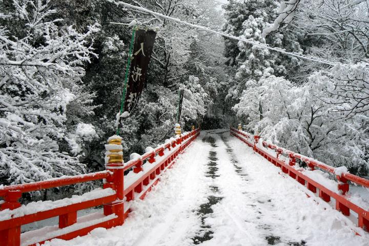 Snow at Honkokuji in Yamashina