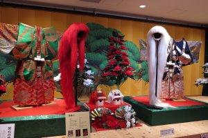 Kabuki museum: old costumes