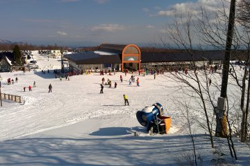 <p>Riding the ski lift</p>