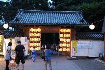 <p>The lanterns leading to Zuiganji&nbsp;temple at Matsushima.</p>