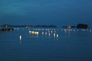 <p>Matsushima Bay with Obon&nbsp;Lanterns.</p>