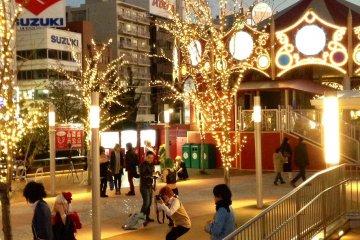 Tokyo Dome Illumination and Cosplay