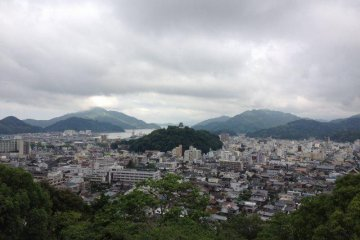 The view from Uwajima Youth Hostel