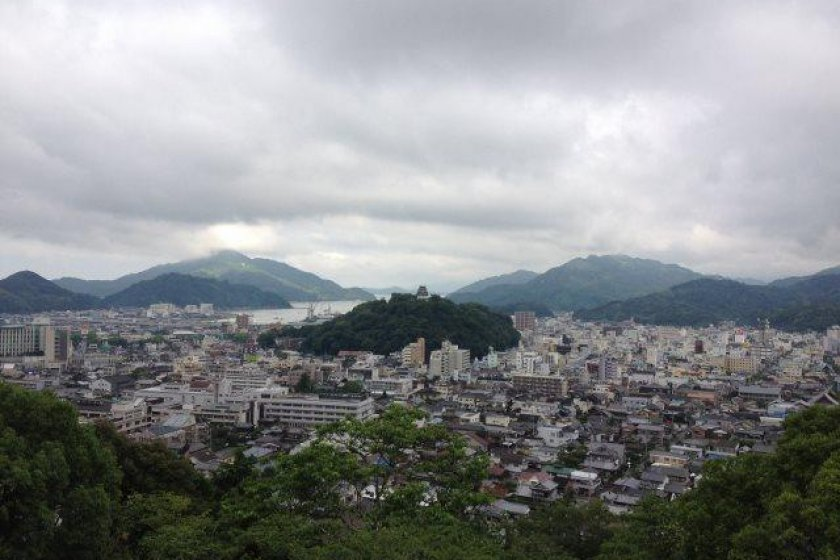 The view from Uwajima Youth Hostel
