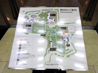 Mapa dos três Prince Hotels em Takanawa e o Centro de Convenções Internacionais Pamir