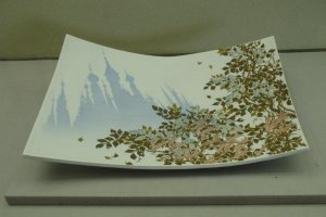 Plate with Steeples and Leaves