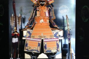 Samurai display at Mikami's residence and museum in Miyazu, a short drive from Maizuru port and Amanohashidate.