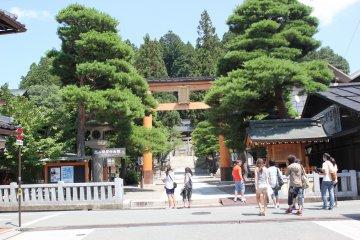 Perjalanan di kota Takayama