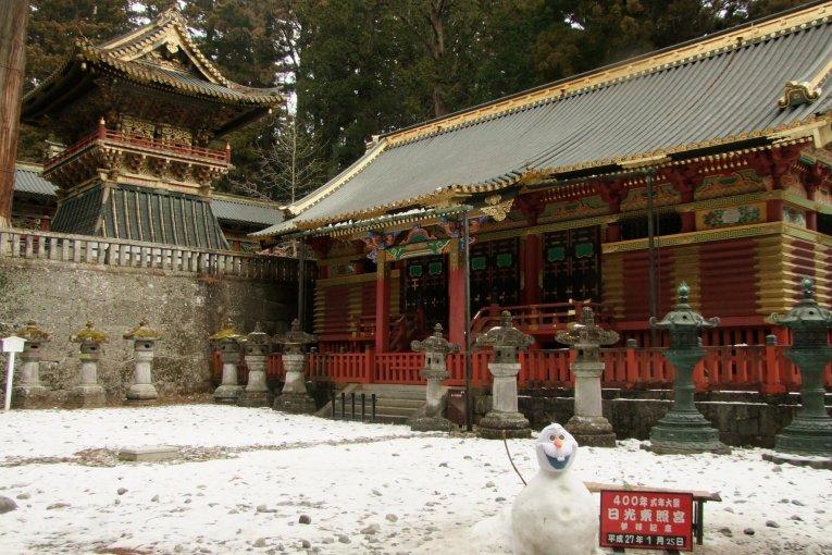 Quần thể đền Nikko trong tuyết