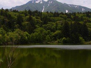 Beaux reflets du Mt Rishi sur l'étang Himenuma