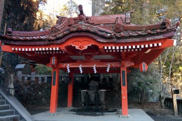 <p>To purify yourself before entering the inner part of the shrine</p>