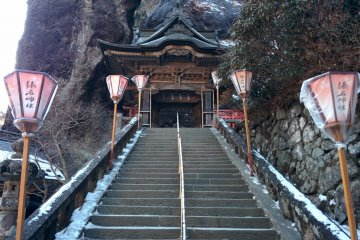 <p>The final set of stairs to the inner part of the shrine</p>