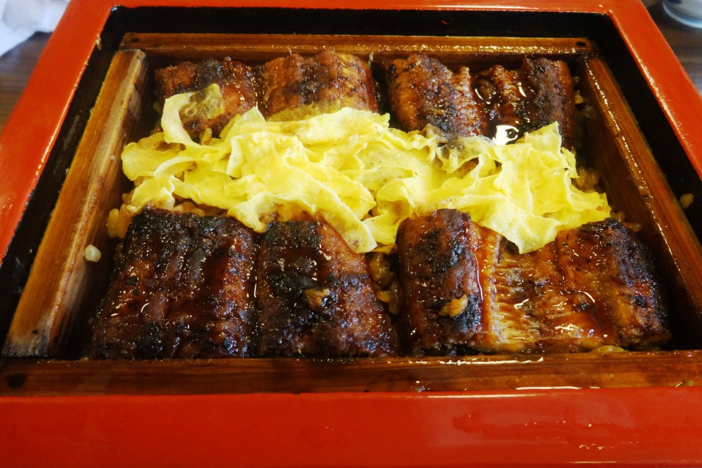 Seiromushi, or steamed eel, a Yanagawa specialty