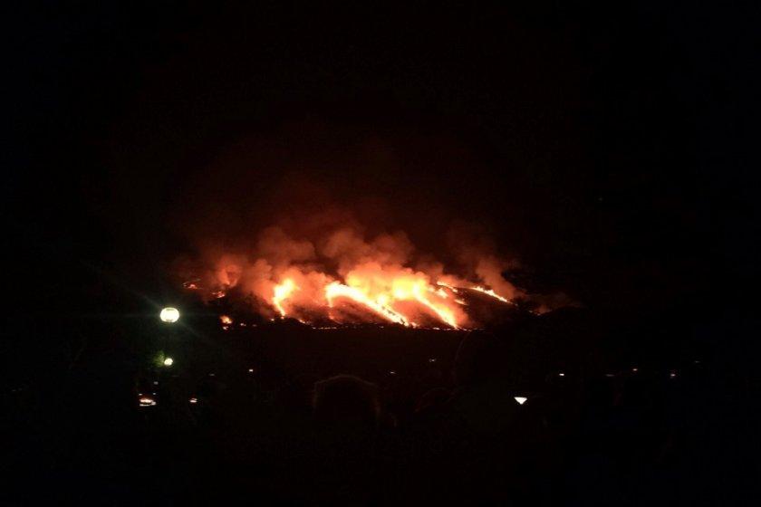 Mt. Wakakusa burning