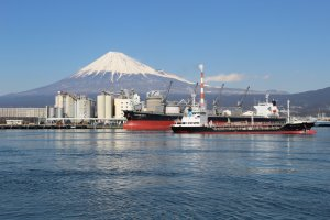 View of Mount Fuji from Tagonoura Port