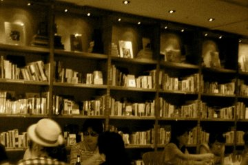 Bookcases inside