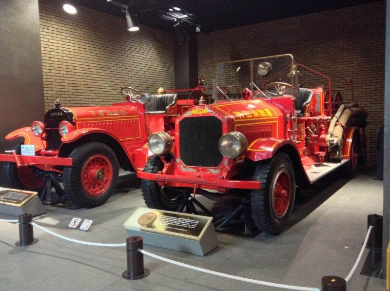 <p>Vintage fire engines</p>