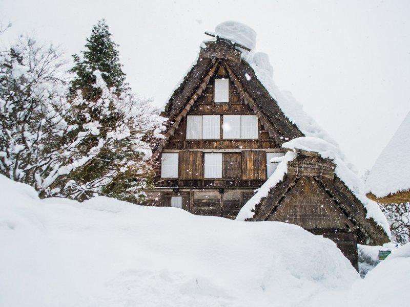 <p>Like a scene in a snow globe.</p>