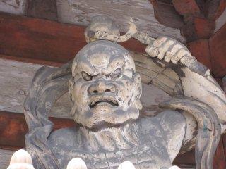 二王門の金剛力士、阿形(あぎょう)像