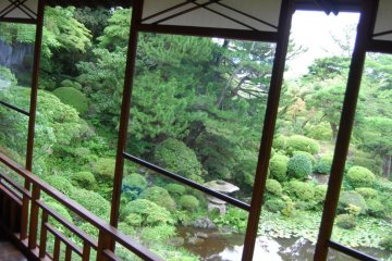 Looking out from the Seienkaku Residence
