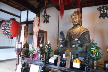 <p>The oldest Buddha of Japan in Asuka-dera</p>