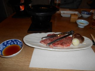 Tasty pieces of beef