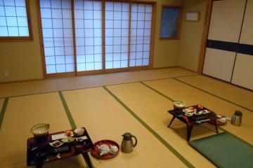 <p>The elegant dining room</p>
