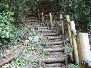 Le sentier menant au sommet de Shizuki