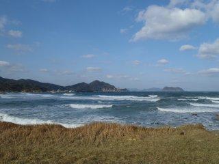 Le long de la plage,côté Ouest