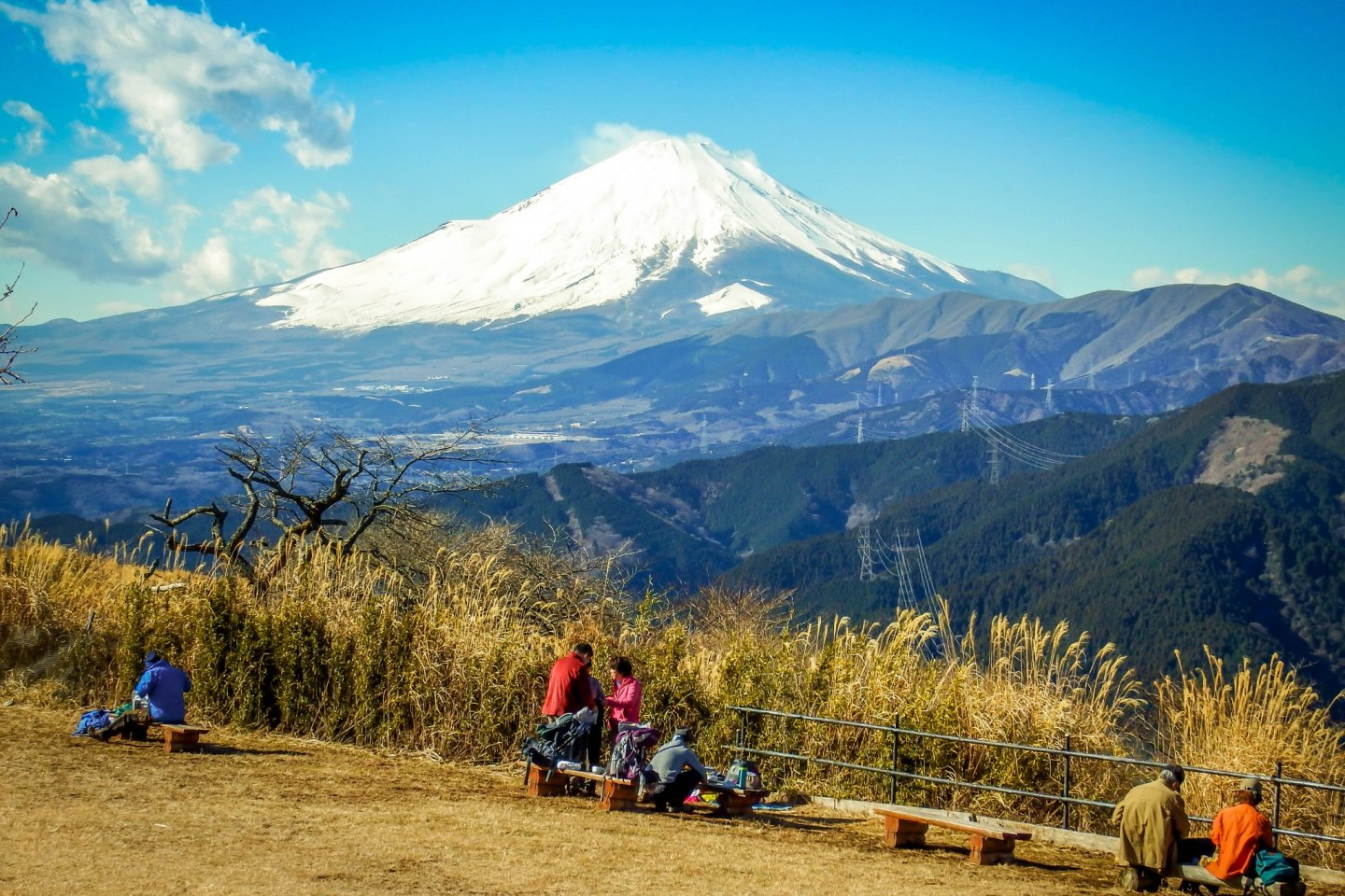 Just one of the many great panoramic views of Mount Fuji