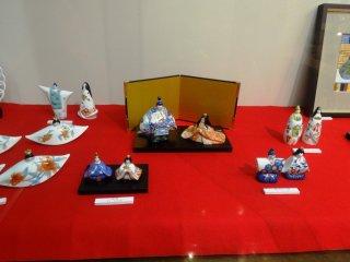伊万里焼窯界隈にある多くのお店では2月と3月の間、ひな人形の特別展示を行う