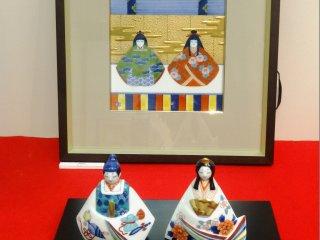 人形には地元の陶工たちの職人技を見ることができる