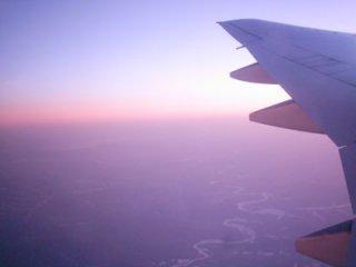 Мы летим навстречу восходящему солнцу! Впереди - Япония.