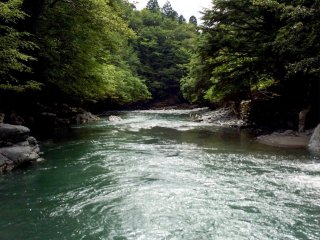 The Iya-gawa river