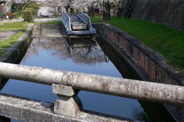 <p>A rail car that once transported boats between different levels of the canals stands at the Biwako Canal end of the incline</p>