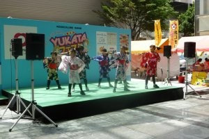 Cute kids dancing in their yukata