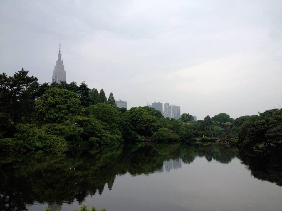 Pemandangan Shinjuku dari Shinjuku Gyoen National Garden