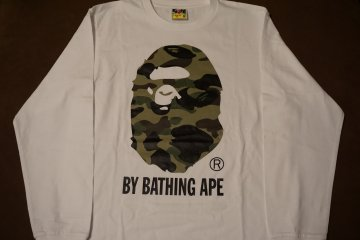 <p>Camouflage ape long-sleeved t-shirt by Bathing Ape</p>