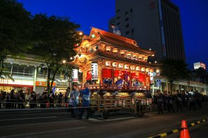 Lantern floating parade in the night of Hamamatsu