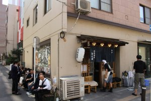 The queue outside Tomita Ramen – this photo taken at 10:40am on a weekday morning!