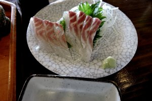 Sashimi of sea bream ('tai' in Japanese)