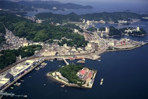 Жемчужный остров Микимото, вид сверху