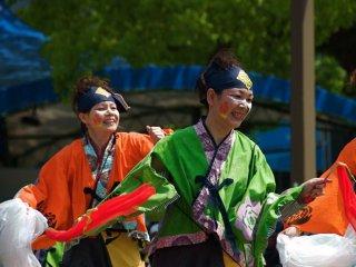 dancers enjoying the moment