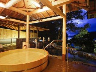Outdoor hot springs