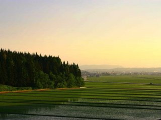 A typical, yet still breathtakingly beautiful, late afternoon scene near the small town of Kaneyama.
