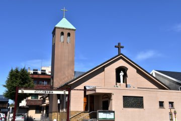 <p>Fukui Catholic Church on Sakura Street</p>