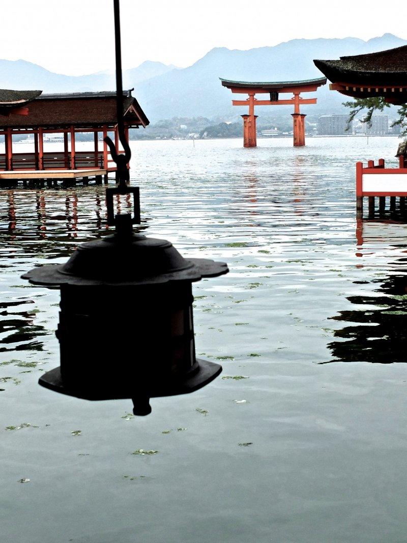 <p>Itsukushima Shrine at high tide</p>