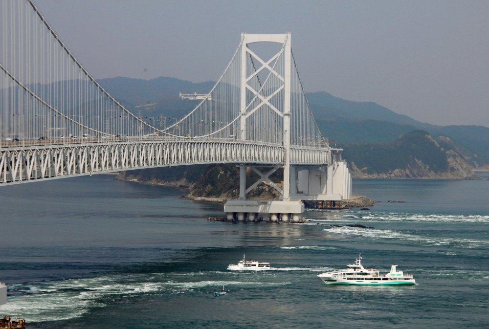 鳴門海峡にかかる大鳴門橋