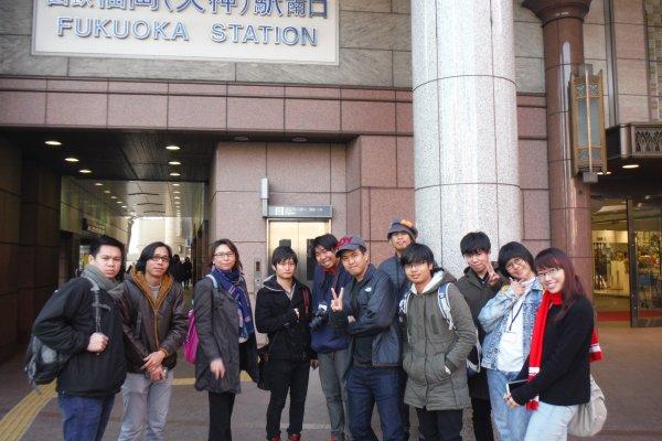 จุดสตาร์ท สถานีรถไฟเทนจิน (FUKUOKA STATION)