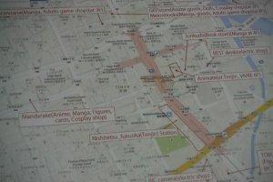 แผนที่ร้านของเล่นในย่านเทนจิน ที่ยูโตะซังทำให้พวกเรา